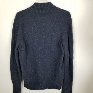 United Colors Of Benetton Sweaters - Stile Benetton Mens Lg Blue Wool Blend Sweater